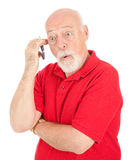 Cellphone Senior - Surprised Stock Image