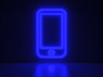 Cellphone - Series Neon Signs Royalty Free Stock Photos