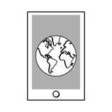Cellphone or tablet , Vector illustration Stock Images