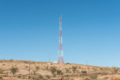 Cellphone telecommunications tower between Kakamas and Augrabies Royalty Free Stock Photo