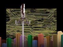 CELLPHONE TORENtechnologie stock illustratie