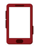 cellphone with touchscreen icon Stock Image