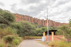 Cellphone tower in rest camp of Waterberg Plateau National Park Royalty Free Stock Photography