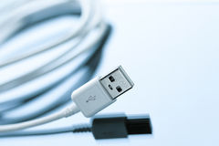 Cellphone usb cable charging cord Royalty Free Stock Photography