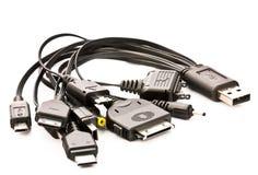 Cellphone usb charging plugs Stock Image