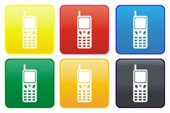 Cellphone web button stock illustration