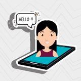 cellphone woman speech speak Royalty Free Stock Image