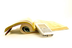 Cellphone and Yellowpages Royalty Free Stock Photo