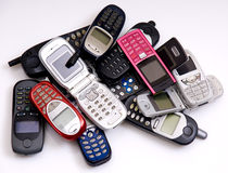Cellphones royalty free stock photo