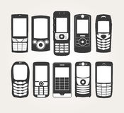 Cellphones Outline Royalty Free Stock Photo
