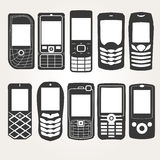 Cellphones Outline Royalty Free Stock Images