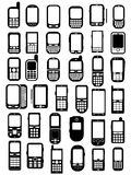 Cellphones and smartphones Royalty Free Stock Photos