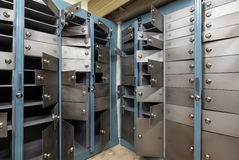 Cells in an old safe bank. Stock Image