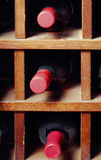 Cells with three wine bottles Royalty Free Stock Photos