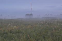 Celltorn i en dimma Arkivfoto
