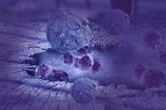 Cellula tumorale in futuro illustrazione vettoriale