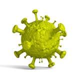 Cellula verde astratta del virus su fondo bianco royalty illustrazione gratis