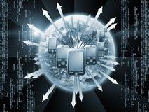 Cellulaire Digitale Mededelingen Stock Afbeeldingen