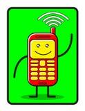 Cellulaire drôle Images libres de droits