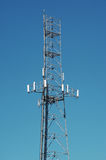 Cellular antenna. A cellular antenna with a blue sky Royalty Free Stock Photo
