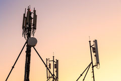 Cellular antenna broadcast station Royalty Free Stock Images