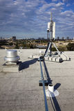 Cellular antenna installed on the roof Royalty Free Stock Image