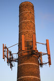 Cellular antennas installed on the chimney Royalty Free Stock Photo