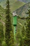 Cellular antennas in the mountains royalty free stock photos