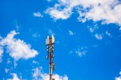 Cellular base station, signal transmission antenna_ royalty free stock images