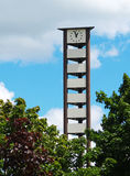 Cellular clock tower Stock Image