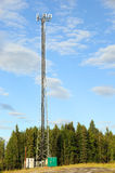 Cellular Communications Tower. In Alaska Stock Photos