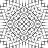 Cellular grid, mesh pattern with circles from center Repeatable Royalty Free Stock Photos