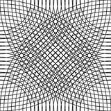 Cellular grid, mesh pattern with circles from center Repeatable Royalty Free Stock Image
