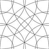 Cellular grid, mesh pattern with circles from center Repeatable Royalty Free Stock Photography