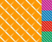 Cellular grid, mesh pattern with shade. Interlaced overlapping l Stock Image