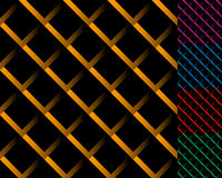 Cellular grid, mesh pattern with shade. Interlaced overlapping l Stock Photography