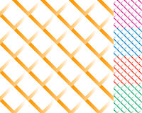Cellular grid, mesh pattern with shade. Interlaced overlapping l Royalty Free Stock Images