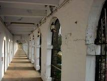 Cellular jail. A lane showing jail barracks Stock Photography