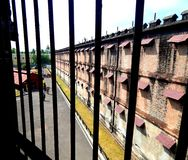 Cellular Jail in Port Blair,Andaman & Nicobar Island,India. Cellular Jail is related to Indian Freedom Struggle.Freedom fighters were brought in this solitary Stock Photo