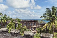 Cellular Jail in Port Blair,. Cellular Jail was used by the British to exile political prisoners Royalty Free Stock Photography