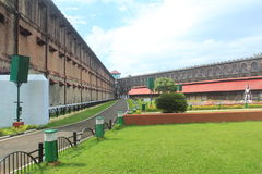 Cellular jail -2. Side view of one of the wings in the Port Blair Cellular Jail, Andaman and Nicobar Islands, India Royalty Free Stock Photos