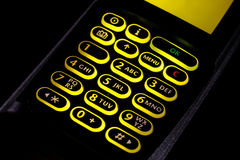 Cellular keypad Stock Image