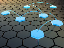 Cellular network. Abstract 3d illustration of cellular network concept royalty free illustration