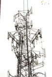 Cellular  network Tower. Wireless mobile transmitter tower network Royalty Free Stock Photography