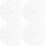 Cellular pattern with thin lines of circles. Repeatable subtle vector illustration