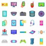 Cellular phone icons set, cartoon style. Cellular phone icons set. Cartoon set of 25 cellular phone vector icons for web isolated on white background Stock Photo