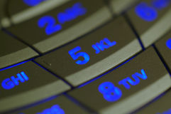 Cellular Phone Illuminated Key. Illuminated cellular phone keypad royalty free stock image