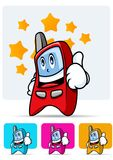 Cellular phone mascot 1 Stock Image
