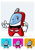 Cellular phone mascot 2 Stock Images