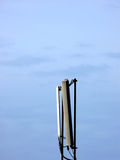 Cellular phone network antenna. Portrait of cellular phone network telecommunication antenna Stock Images